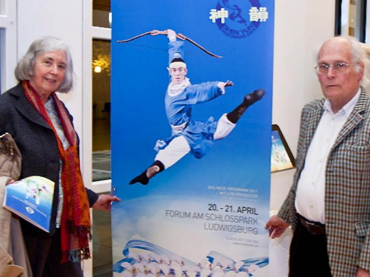 Ms. Margarete von Beckerath and Mr. Brian Hinderleider at the Shen Yun performance. (Jason Wang/The Epoch Times)