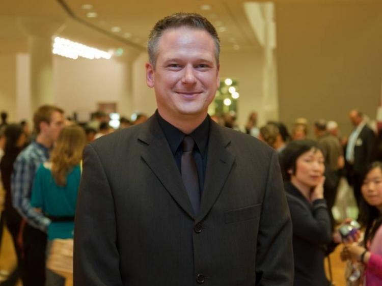 Mr. Stephan Wegmann in the lobby of the Forum am Schlosspark, in Ludwigsburg, Germany. (Jason Wang/The Epoch Times)