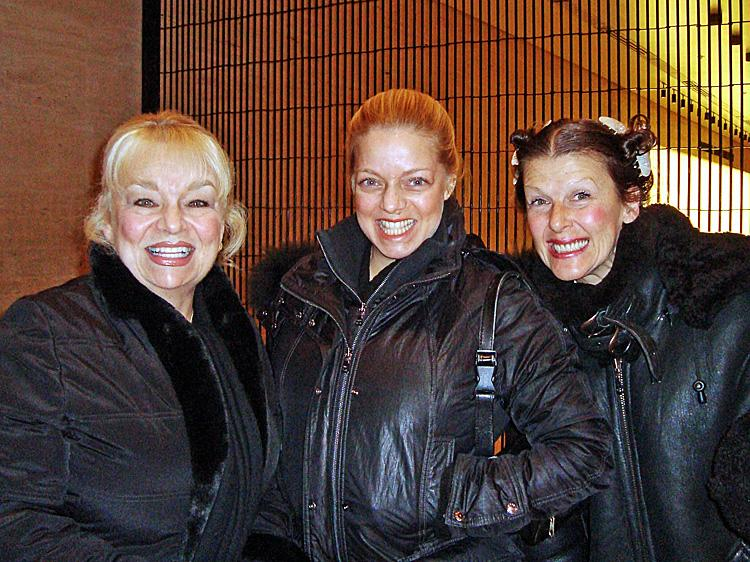 (L-R) Carol Mamara, Dina Michelle, and Hally Hung were at Shen Yun Performing Arts' full-house performance at the Lincoln Center's David H. Koch Theater on Sunday afternoon. (Pamela Tsai/The Epoch Times)