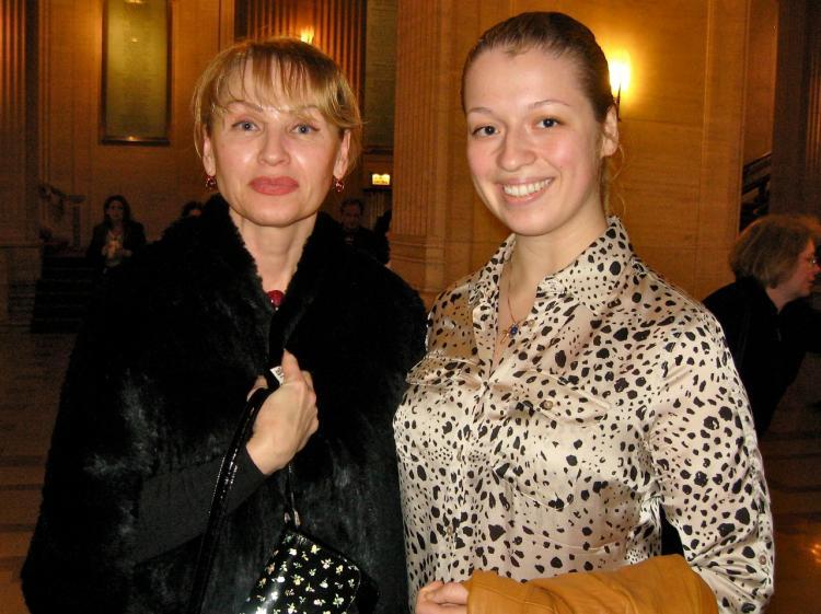 Dr. Natalia Doran (L) and Anastasia Usova (R) at Shen Yun performing Arts in Chicago. (Maureen Zebian/The Epoch Times)