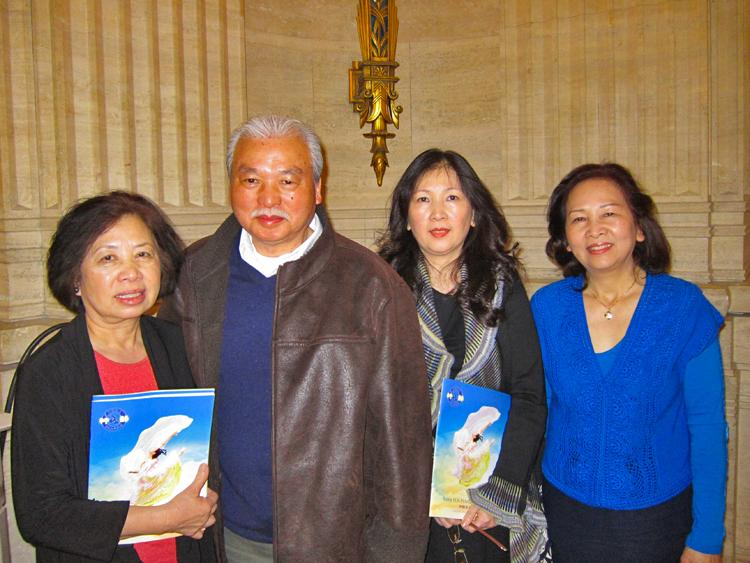 Lien Du, Cao Ba Ninh, Mai Cao and Hai Cao all enjoyed Shen Yun at Chicago's Civic Opera House on April 24. (Valerie Avore/The Epoch Times)