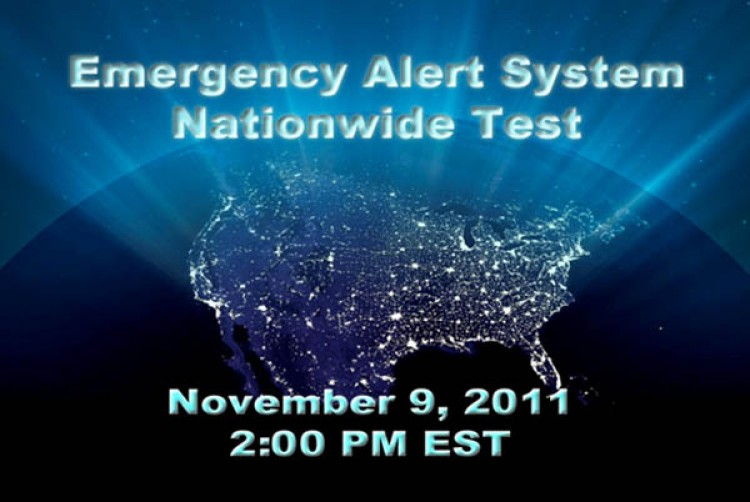 Announcement countdown from the FCC's website marking the date and time of the natio's first test of the Emergency Alert System.  (Courtesy of fcc.gov)