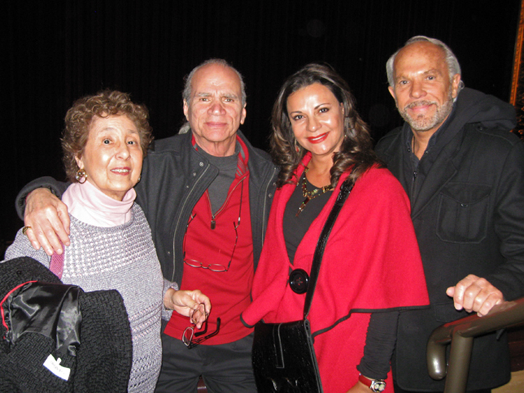 Left to right: Joyce and Charles Brandt, Galia and Milton Movitz