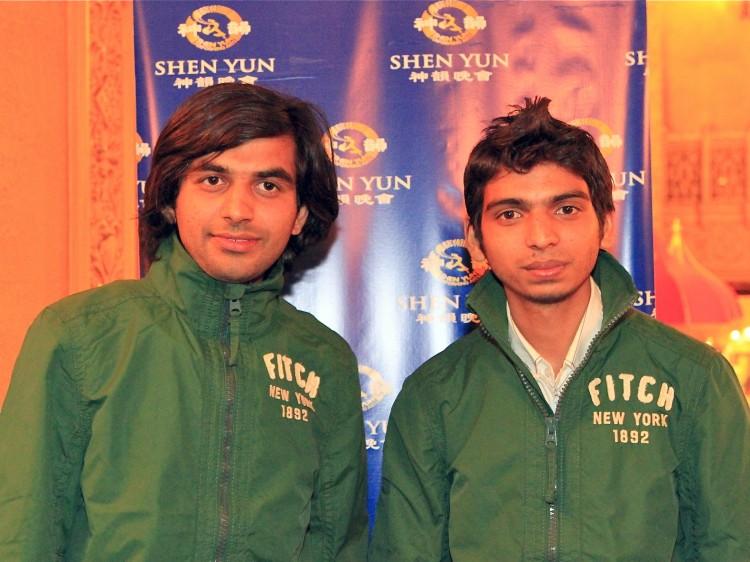 Gouran Verma and Chetan Sharma attend Shen Yun
