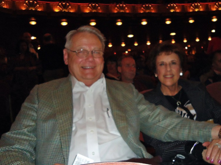 Bob Klein and Ms. Cattaneo enjoying Shen Yun
