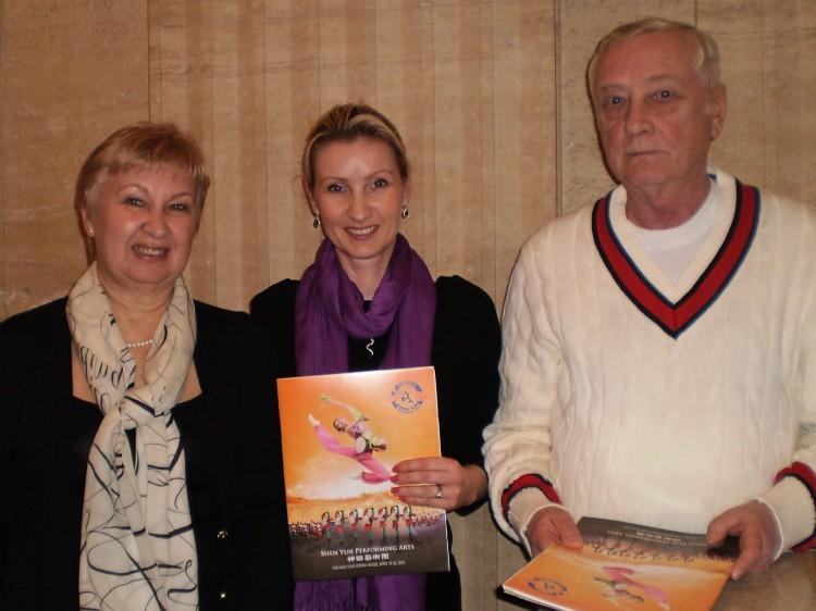 Olga Machrone and friends attend Shen Yun