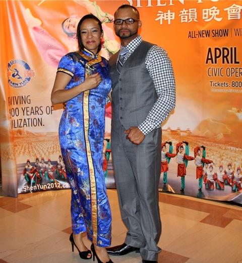Monique Hardin and Luis Cubas attend Shen Yun Performing Arts