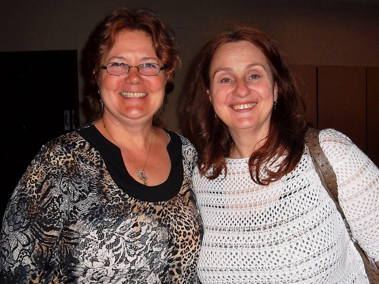 Michelle Loihle and Riza Baron after enjoying Shen Yun