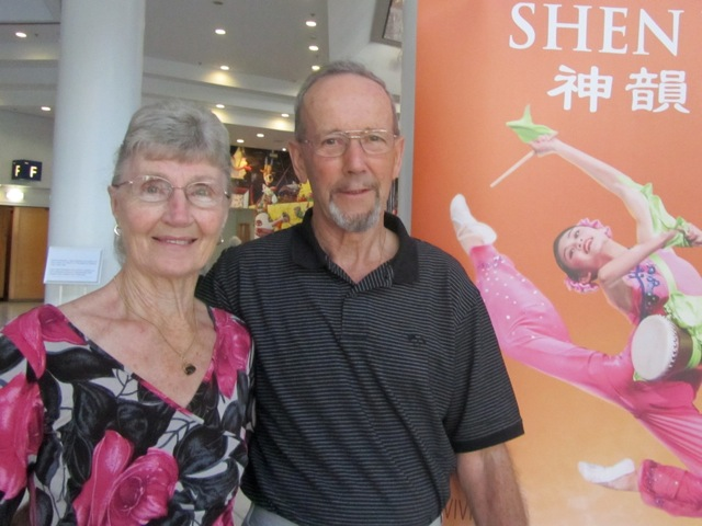 Trudy and Malcolm Burrell attend Shen Yun