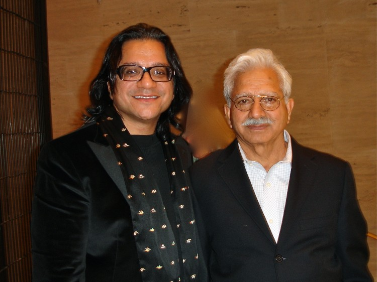 Dr. T. Rajiv Juneja M.D., M.S. and his father attend Shen Yun