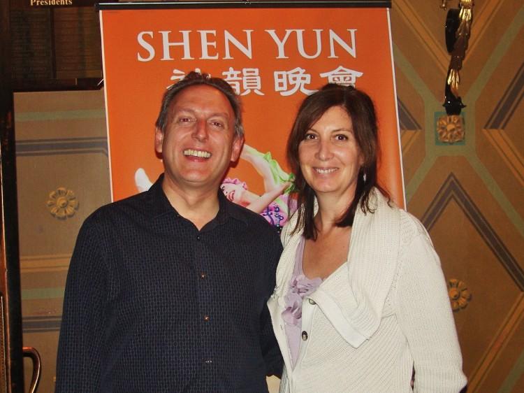 Duffy Jamieson and  Geri Jamieson attend Shen Yun