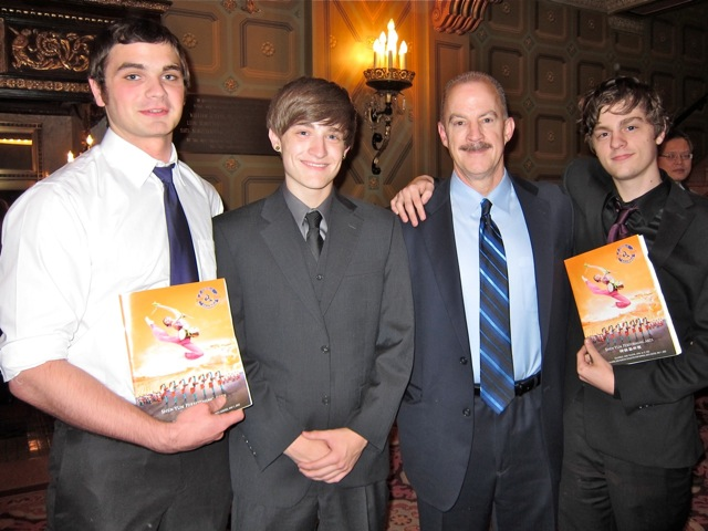Ricky Johnson, (L) Drew Danehart (2nd R) and his sons Travis and Josh
