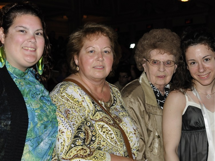 Ms. Pirocek,(2nd L) from Virginia, and her two daughters, Frances and Melissa Boffa attend Shen Yun