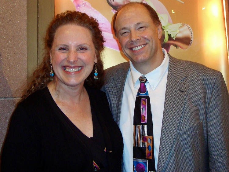 Kay Krekow and Harry Dunstan attend Shen Yun Performing Arts at the Merriam Theatre in Philadelphia on May 9. (The Epoch Times)