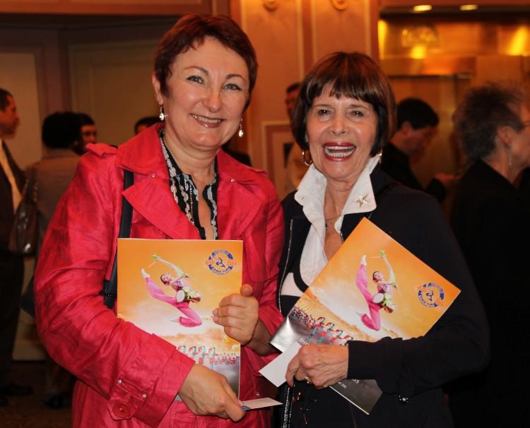 Nadine Novak, (L) a designer, and Barbara Friedman, a photographer, enjoyed Shen Yun