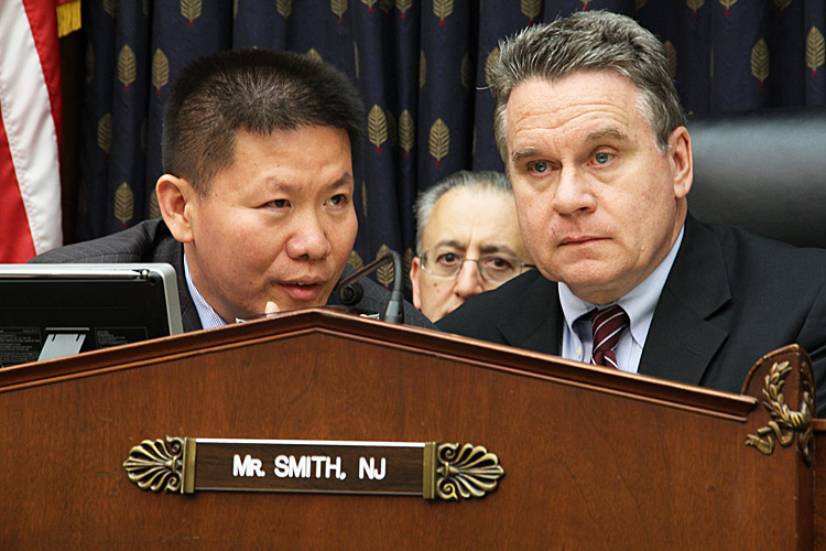 Chen Guangcheng speaks live via speakerphone to Rep. Chris Smith and Bob Fu