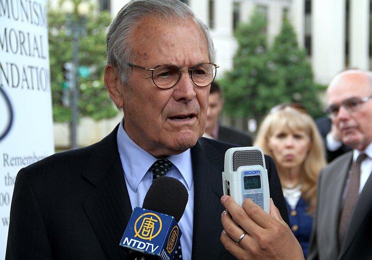 Former U.S. Defense Secretary Donald Rumsfeld