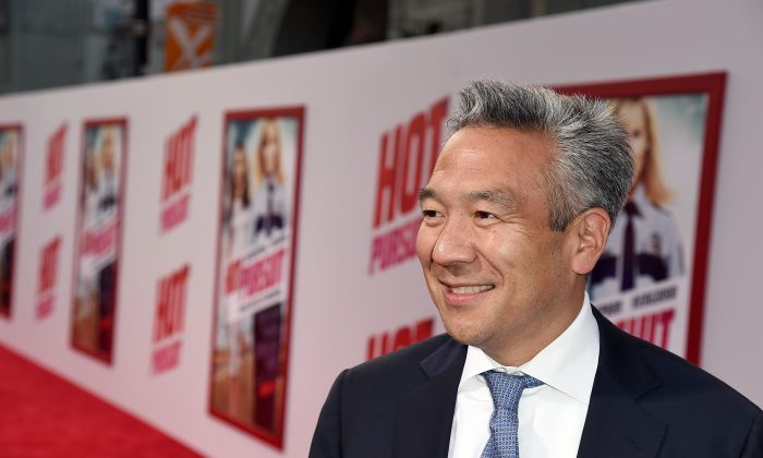 """Chief Executive Officer of Warner Bros. Kevin Tsujihara attends the premiere of New Line Cinema and Metro-Goldwyn-Mayer's """"Hot Pursuit"""" at TCL Chinese Theatre on April 30, 2015 in Hollywood, California.  (Photo by Kevin Winter/Getty Images)"""