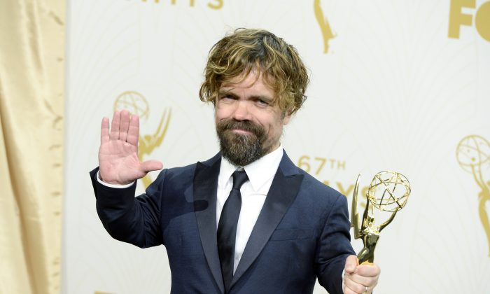 Actor Peter Dinklage, winner of Outstanding Supporting Actor in a Drama Series for 'Game of Thrones', poses in the press room at the 67th Annual Primetime Emmy Awards at Microsoft Theater on September 20, 2015 in Los Angeles, California. (Photo by Kevork Djansezian/Getty Images)