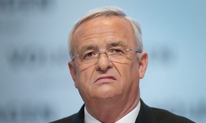 In this file photo Volkswagen CEO Martin Winterkorn attends the company's annual press conference on March 13, 2014 in Wolfsburg, Germany. (Sean Gallup/Getty Images)