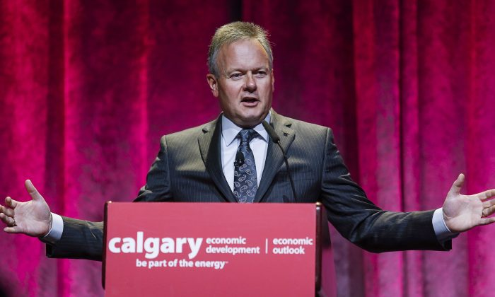 Bank of Canada governor Stephen Poloz speaks at a Calgary Economic Development forum in Calgary on Sept. 21, 2015. (The Canadian Press/Jeff McIntosh)