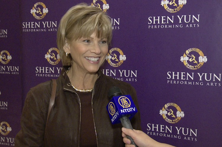 Sandy Dell, director of marketing at SUNY Downstate Medical, after seeing Shen Yun Performing Arts at Lincoln Center on Sunday. (Courtesy of NTD Television)