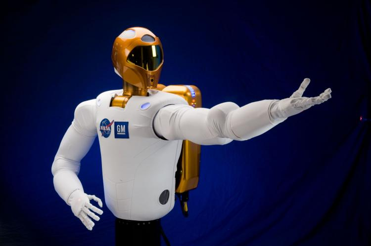 LENDING A HAND: A NASA/General Motors collaboration has produced a robot with very human-like hands. (Photo courtesy NASA/GM)
