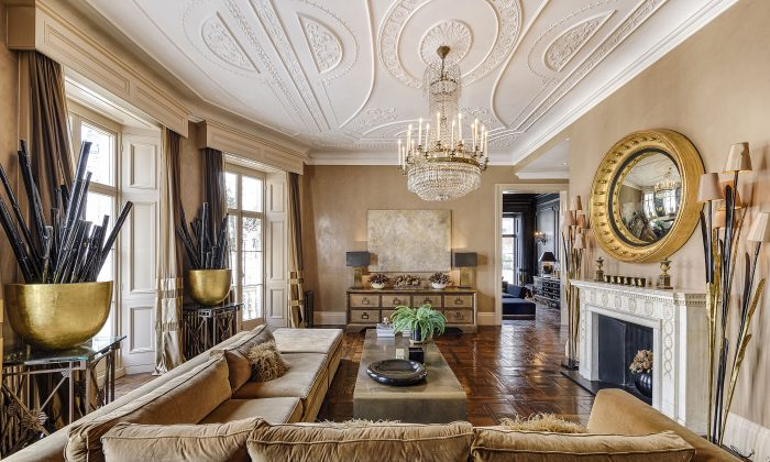 The opulent interior of Karen Millen's former apartment in London, sold by Sotheby's International Realty last October for £8.5 million. (Sotheby's International Realty)