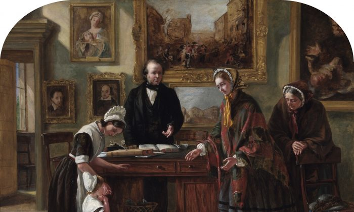 """Emma Brownlow's """"The Foundling Restored to its Mother"""", a painting on show at the Foundling Museum in London (Courtesy of the Foundling Museum)"""