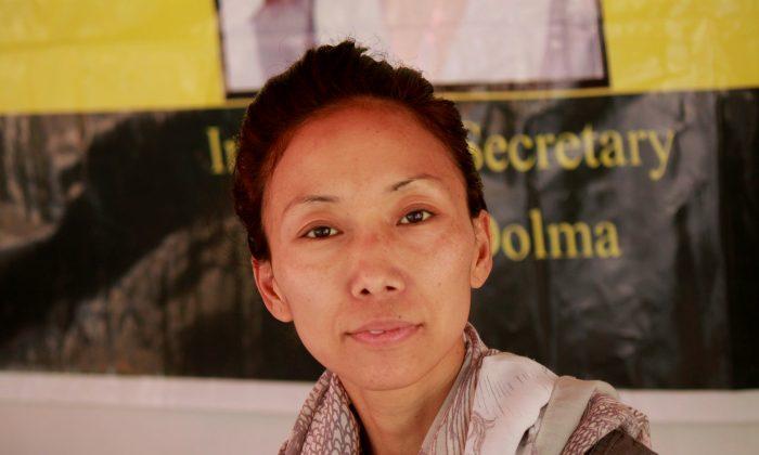 Tibetan hunger striker Dolma pictured in New Delhi, India (Venus Upadhayaya)