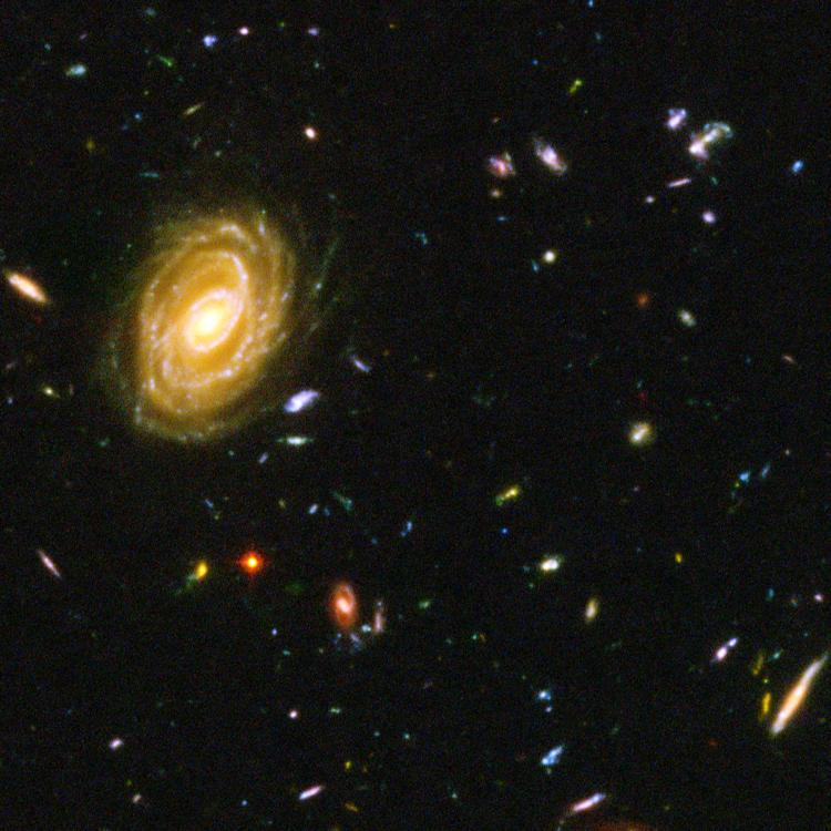 This Hubble photograph is a composite of a million one-second exposures, revealing galaxies from the time shortly after the big bang. But was this really the beginning of the universe, or merely a stage in its development?  (NASA/Getty Images)