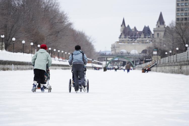 Ice-skating during the winter is one of man�s ways to follow the course of the seasons. (Photos.com)