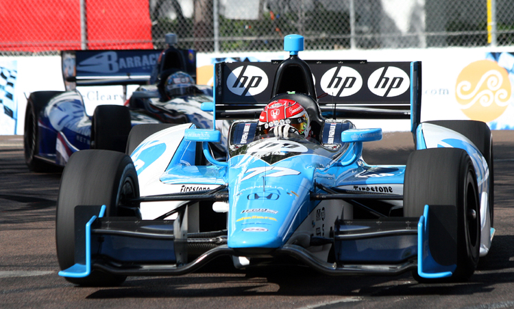 Simon Pagenaud was quickest in the third practice session of the IndyCar Honda Grand Prix of St. Petersburg. (James Fish/The Epoch Times)