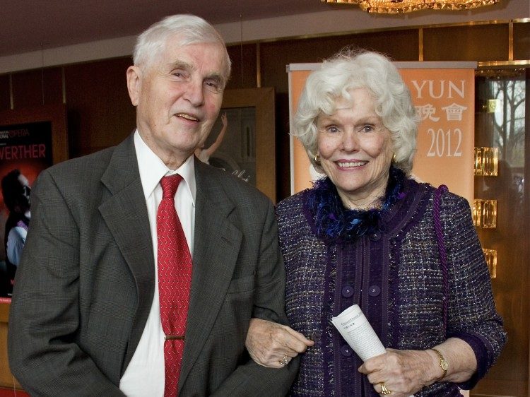 Doris Buffett (R) and Josiah Rowe attend Shen Yun Performing Arts