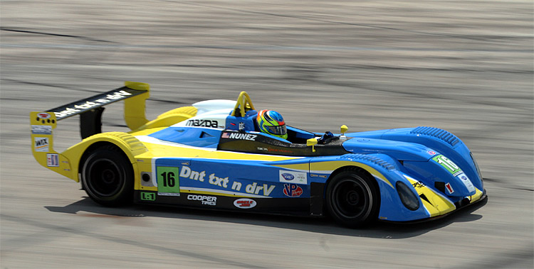 Tristan Nunez set several records, including youngest IMSA Lites winner, at Sebring. He hopes to continue his success in Utah. (James Fish/The Epoch Times)