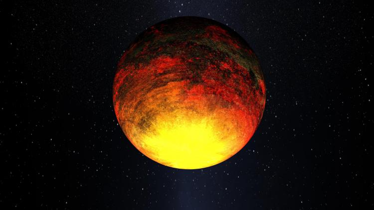 The Kepler-10b, a rocky planet a little bigger than Earth orbiting a star called Kepler-10. (NASA)