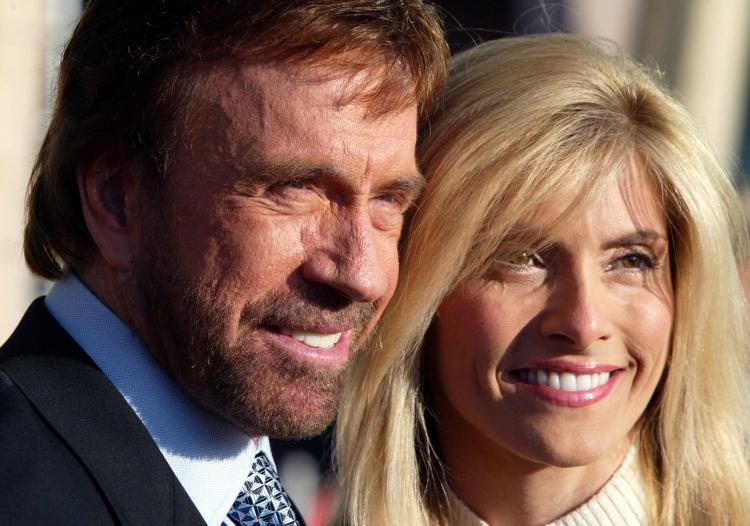 Chuck Norris and his wife Gena O'Kelley (Frazer Harrison/Getty Images)