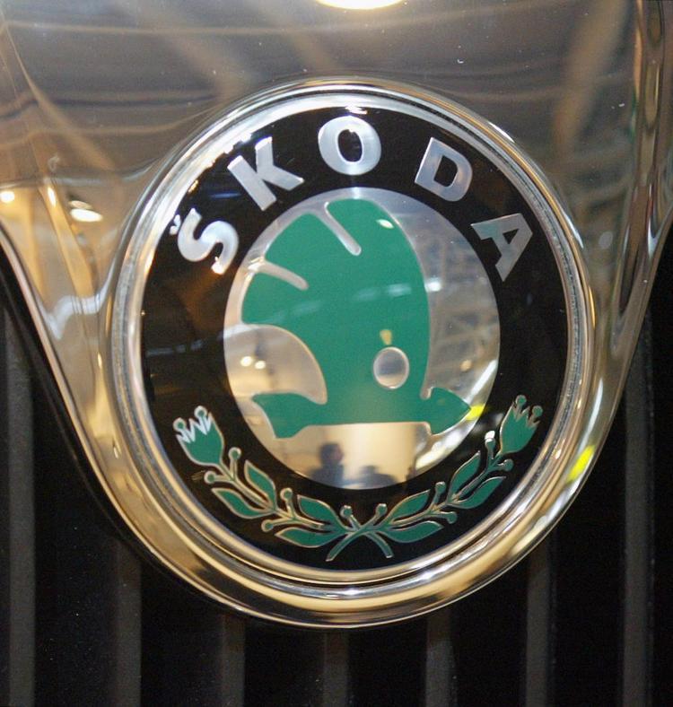 The logo of Czech car maker, Skoda. (Jacques Demarthon/AFP/Getty Images)