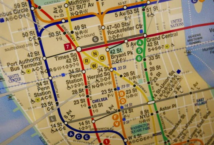 Technology Roadmap Subway Map.Road Map For Digital City Unveiled In New York