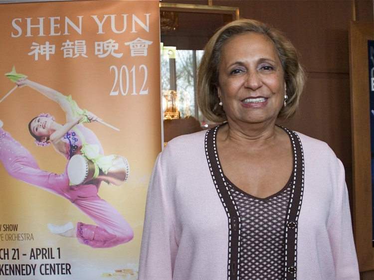 Cathy Hughes attends Shen Yun Performing Arts in Washington
