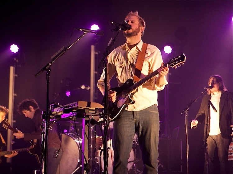 Bon Iver live at HMV Hammersmith Apollo, in London, on Monday Oct. 24, 2011.  (Phil Smithies)