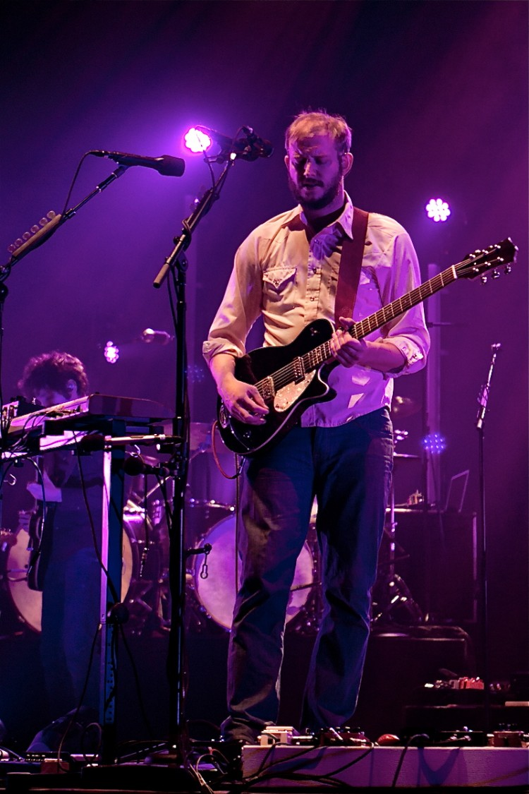 Bon Iver live at HMV Hammersmith Apollo, in London. (Phil Smithies)