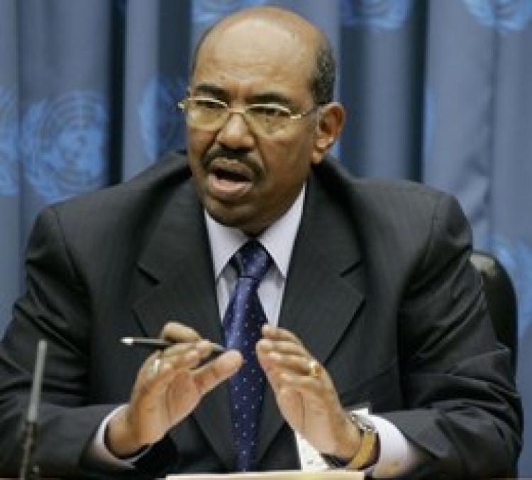 Sudanese President Omar Hassan al-Bashir speaks at the UN. (Stephen Chernin/Getty Images)