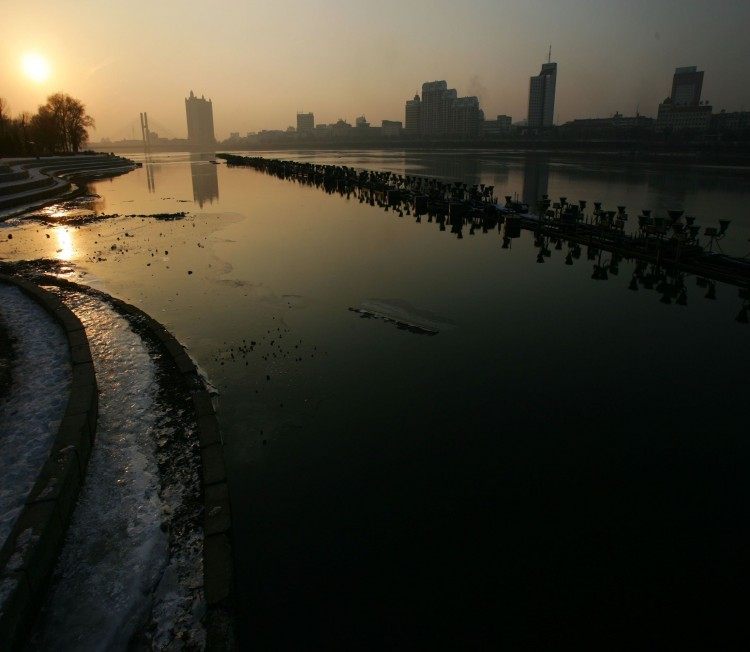 The Songhuajiang River is seen on January 19, 2007 in Jilin City of Jilin Province, China. The River was polluted after an explosion at a chemical plant November 13, 2005. (China Photos/Getty Images)