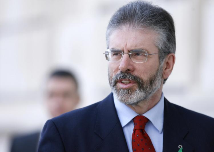 President of Sinn Fein Gerry Adams at Stormont in Belfast. (Peter  Muhly/AFP/Getty Images)