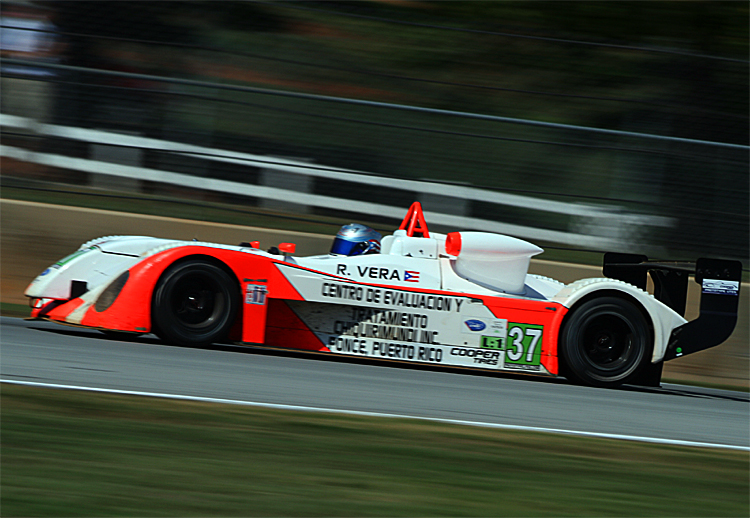 Ricardo Vera in action in the 37 Intersport Lites car at Petit Le Mans in 2011. (James Fish/The Epoch Times)