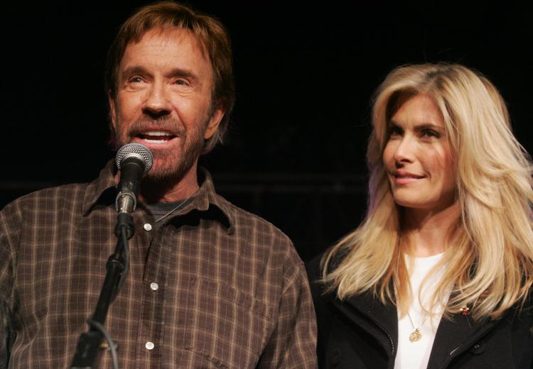 Chuck Norris and his wife, Gena O'Kelley. (Saul Loeb/AFP/Getty Images)