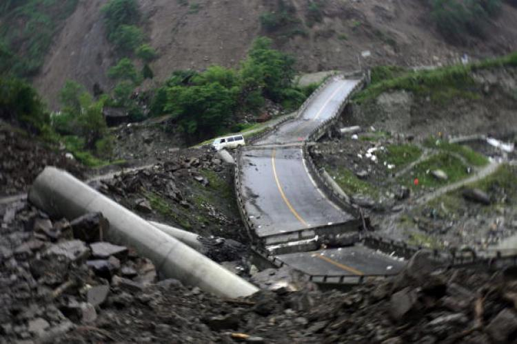 Earthquake aftermath in Wenchuan County of Sichuan Province, China. (China Photos/Getty Images)