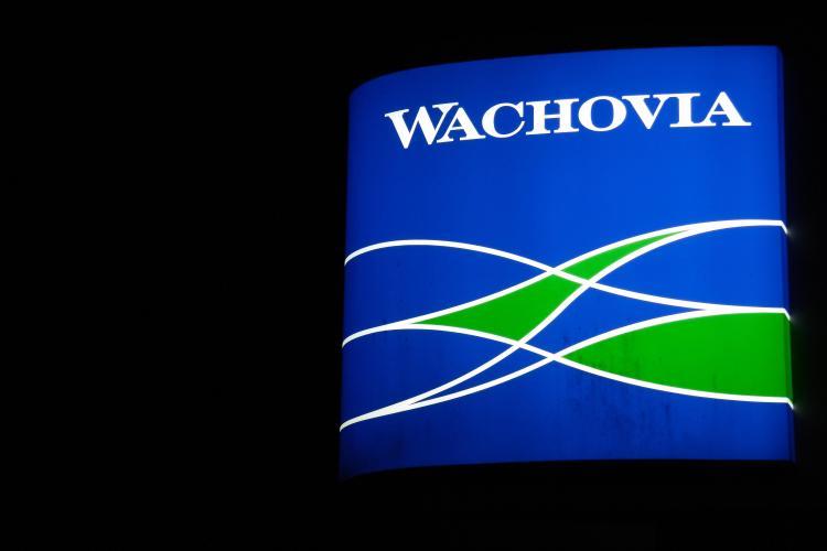 A Wachovia branch is seen in Manassas, Virginia. (KAREN BLEIER/AFP/Getty Images)