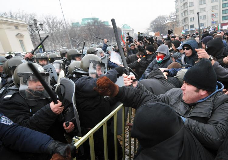 Recent anti-government protests in Bulgaria saw the police send out armed guards in response. (Dimitar Dilkoff/AFP/Getty Images)